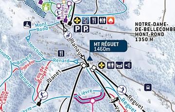 Plan des pistes Chalet Lachat